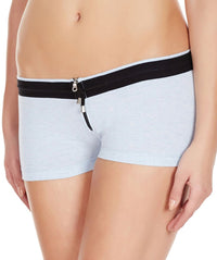 La Intimo Sky Blue Women YKK Zip Cotton Spandex BoyShort
