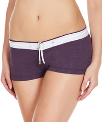 La Intimo Wine Women YKK Zip Cotton Spandex BoyShort