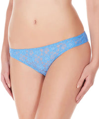 La Intimo Blue Women Flower pattern Nylon Spandex Lace