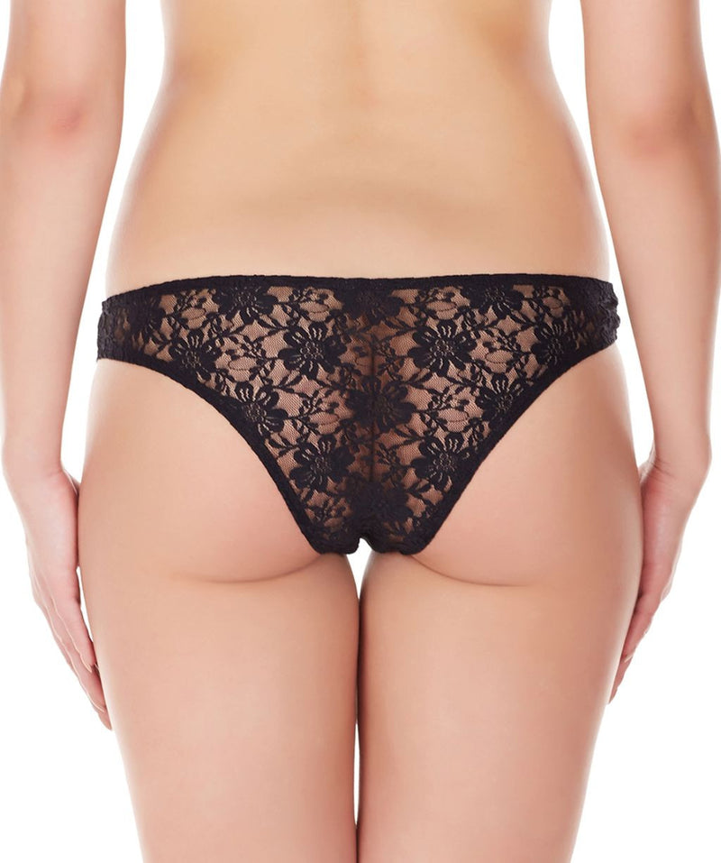 La Intimo Black Women Intimate Panty Nylon Spandex Lace