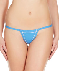 La Intimo Blue Women Real Feel Cotton Modal Spandex GString