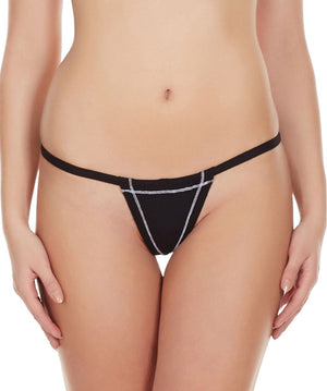 La Intimo Black Women Real Feel Cotton Modal Spandex GString