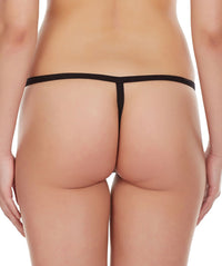 La Intimo Black Women Intimate Adjustable Cotton Modal Spandex GString