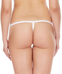 La Intimo White Women Intimate Adjustable Cotton Modal Spandex GString
