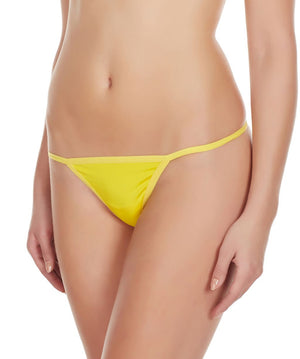 La Intimo Yellow Women Minimizer Thong Polyester Spandex GString