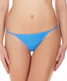 La Intimo Blue Women Ring String Nylon Spandex GString