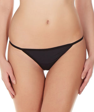 La Intimo Black Women Ring String Nylon Spandex GString