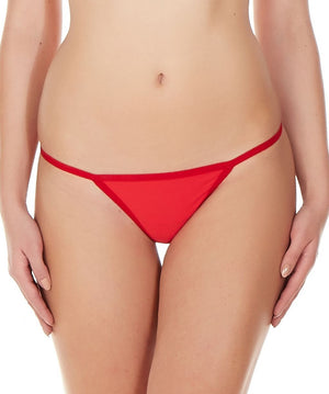 La Intimo Red Women Ring String Nylon Spandex GString