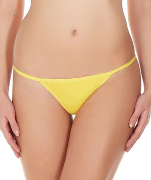 La Intimo Yellow Women Ring String Nylon Spandex GString