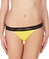 La Intimo Yellow Women Galaxy Y-String Nylon Spandex GString