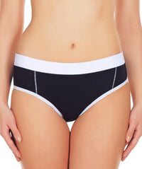 La Intimo Black Women Window Cotton Modal Spandex Hipster