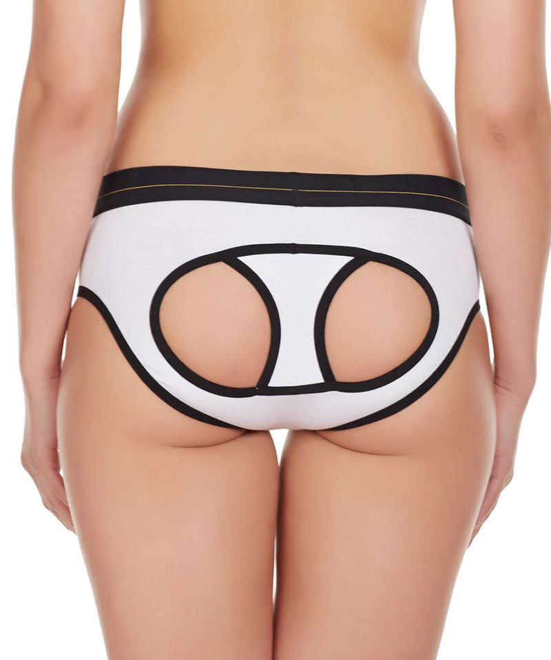 La Intimo White Women Window Cotton Modal Spandex Hipster