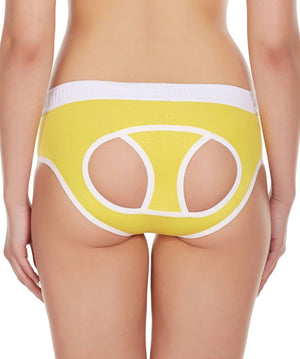 La Intimo Yellow Women Window Cotton Modal Spandex Hipster