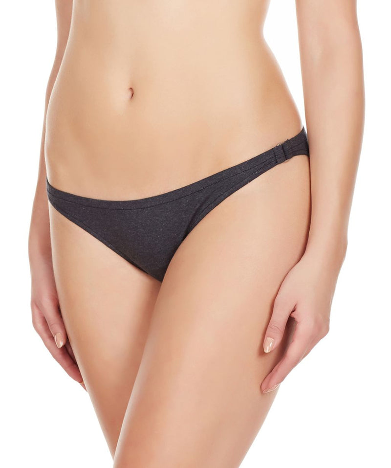 La Intimo Charcoal Women Bound Back Ring Cotton Spandex Bikini