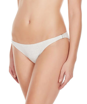 La Intimo Grey Women Bound Back Ring Cotton Spandex Bikini