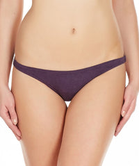 La Intimo Wine Women Bound Back Drawstring Cotton Spandex Bikini
