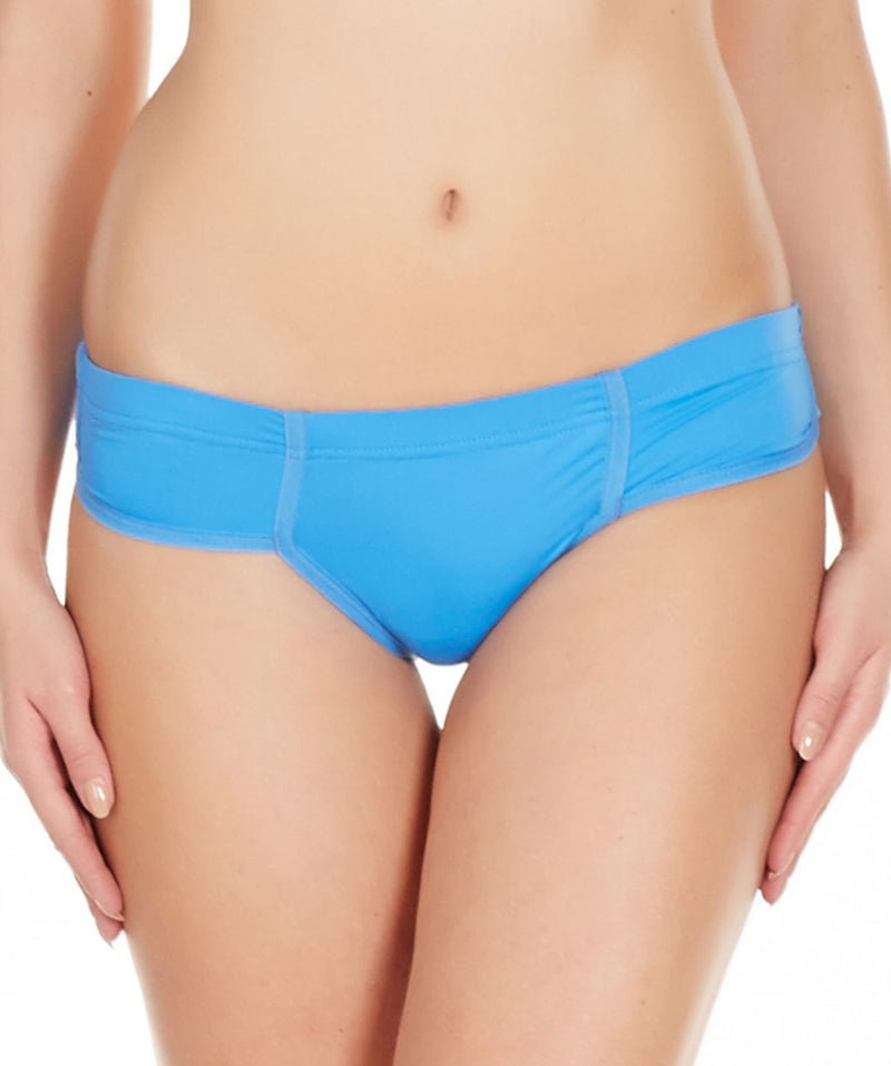 La Intimo Blue Women Just Cut Panty Nylon Spandex Bikini