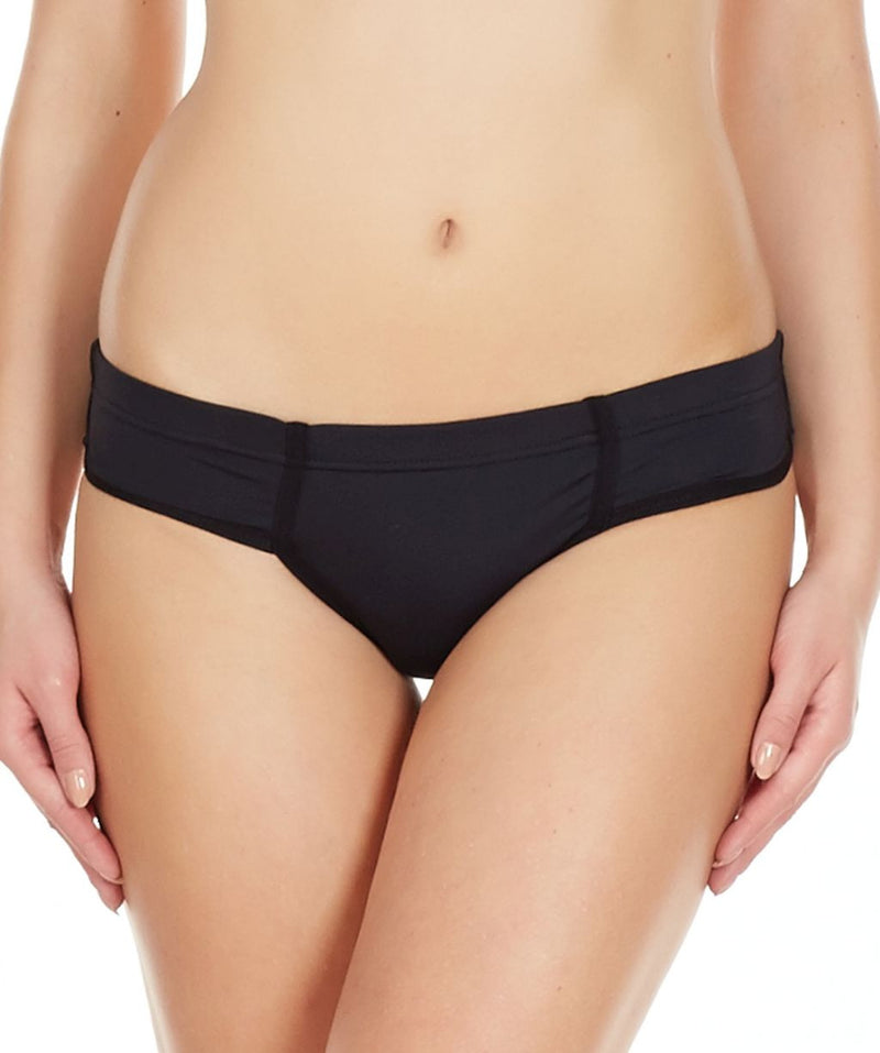 La Intimo Black Women Just Cut Panty Nylon Spandex Bikini