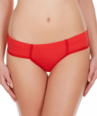 La Intimo Red Women Just Cut Panty Nylon Spandex Bikini