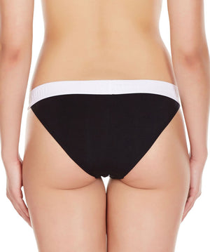 La Intimo Black Women Regular Cotton Modal Spandex Bikini