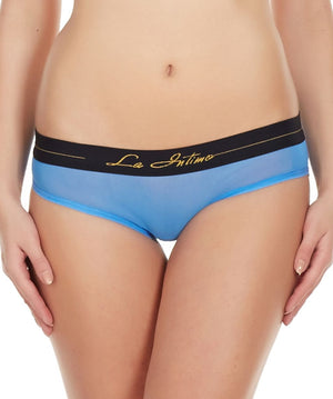 La Intimo Blue Women Power Girl Shorts Nylon Spandex Bikini
