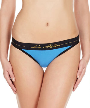 La Intimo Yellow Women NiceFit V2 Thong Cotton Modal Spandex Thong