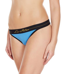 La Intimo Blue Women Intimate Cotton Modal Spandex Thong