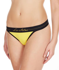 La Intimo Yellow Women Intimate Cotton Modal Spandex Thong