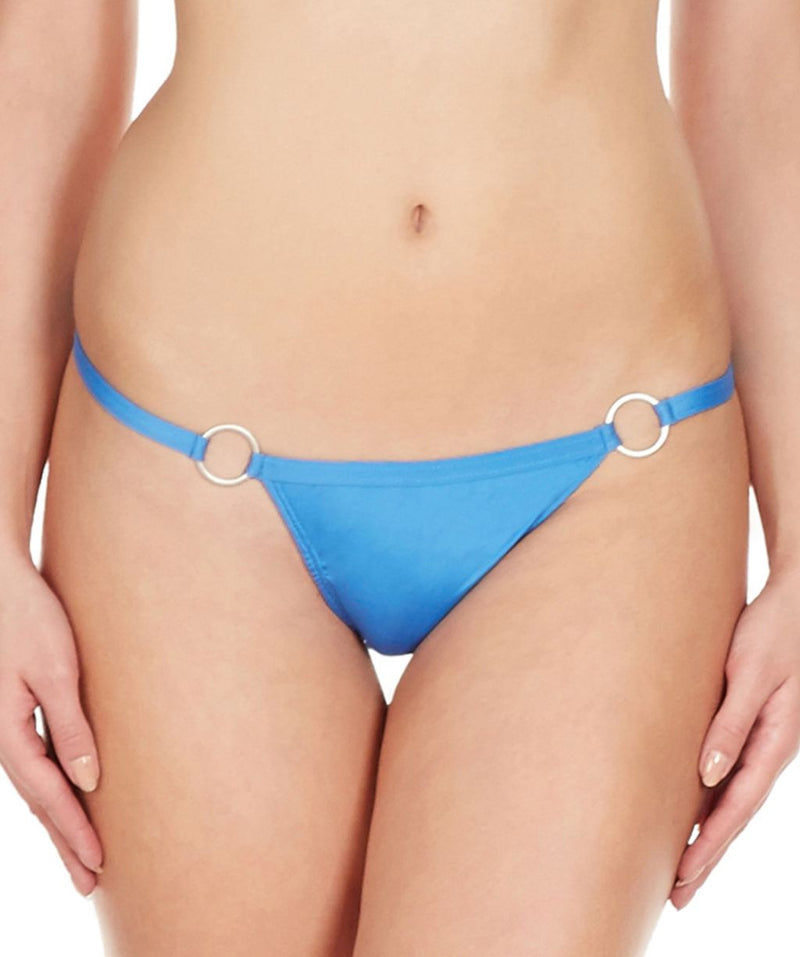La Intimo Blue Women Ring Thong Polyester Spandex Thong