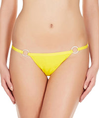 La Intimo Yellow Women Ring Thong Polyester Spandex Thong
