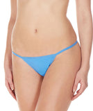 La Intimo Blue Women Minimizer Thong Nylon Spandex Thong