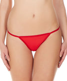 La Intimo Red Women V-Thong Nylon Spandex Thong