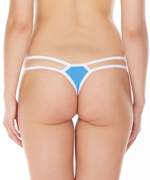 La Intimo Blue Women Intimate Nylon Spandex Thong