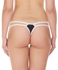 La Intimo Black Women Intimate Nylon Spandex Thong