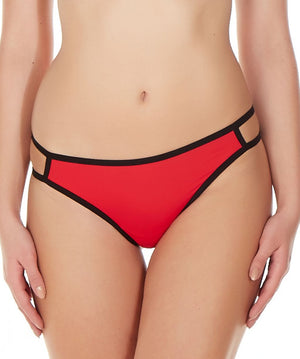 La Intimo Red Women Gusset Thong Nylon Spandex Thong