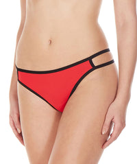 La Intimo Red Women Minimizer Designer Thong Nylon Spandex Thong