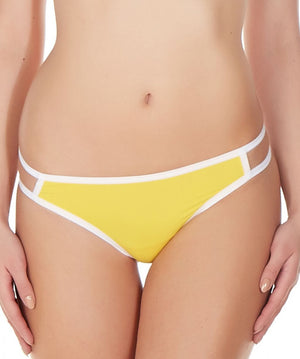 La Intimo Yellow Women Gusset Thong Nylon Spandex Thong