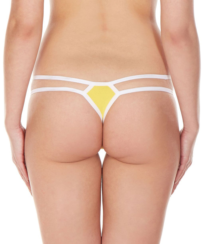 La Intimo Yellow Women Intimate Nylon Spandex Thong