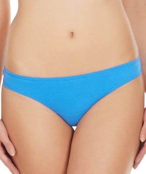 La Intimo Blue Women Comfy Thong Cotton Spandex Thong