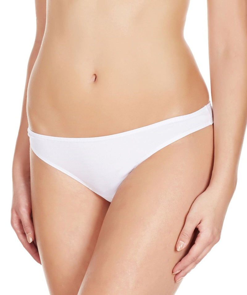La Intimo White Women Minimizer Thong Cotton Spandex Thong
