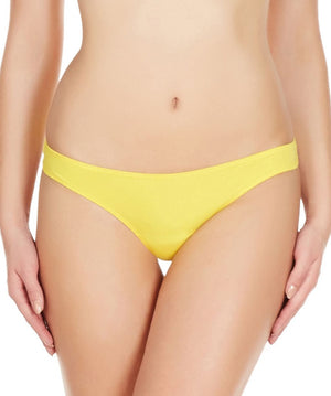 La Intimo Yellow Women Comfy Thong Cotton Spandex Thong
