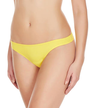 La Intimo Yellow Women Minimizer Thong Cotton Spandex Thong