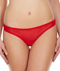 La Intimo Red Women Fine Mesh Comfy Thong Nylon Spandex Thong