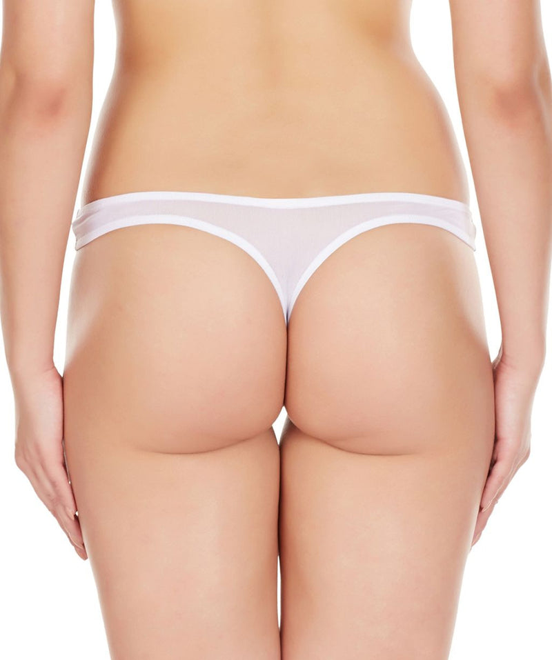 La Intimo White Women Regular Nylon Spandex Thong