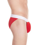 La Intimo Red Men Stylish Brief Cotton Modal Spandex Briefs