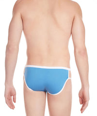 La Intimo Blue Men Stylish Cotton Modal Spandex Briefs