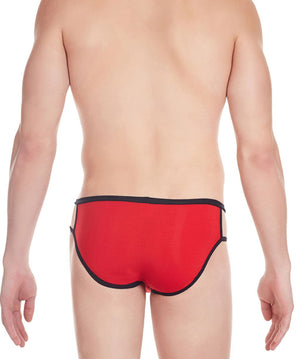 La Intimo Red Men Stylish Cotton Modal Spandex Briefs