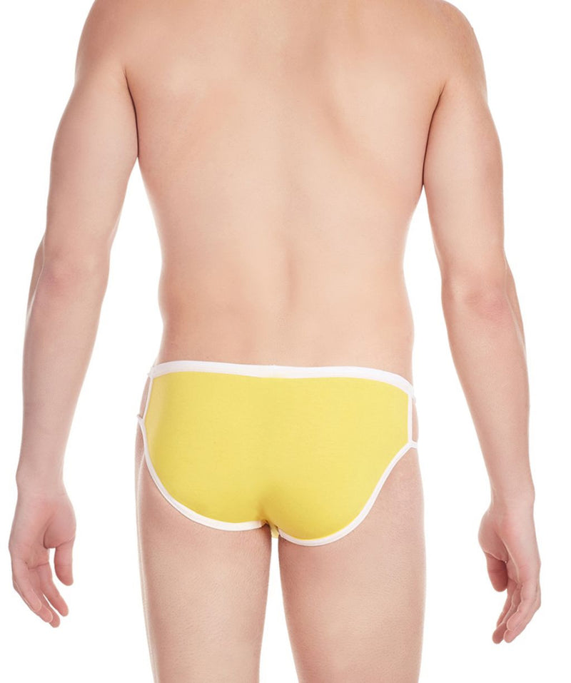 La Intimo Yellow Men Stylish Cotton Modal Spandex Briefs