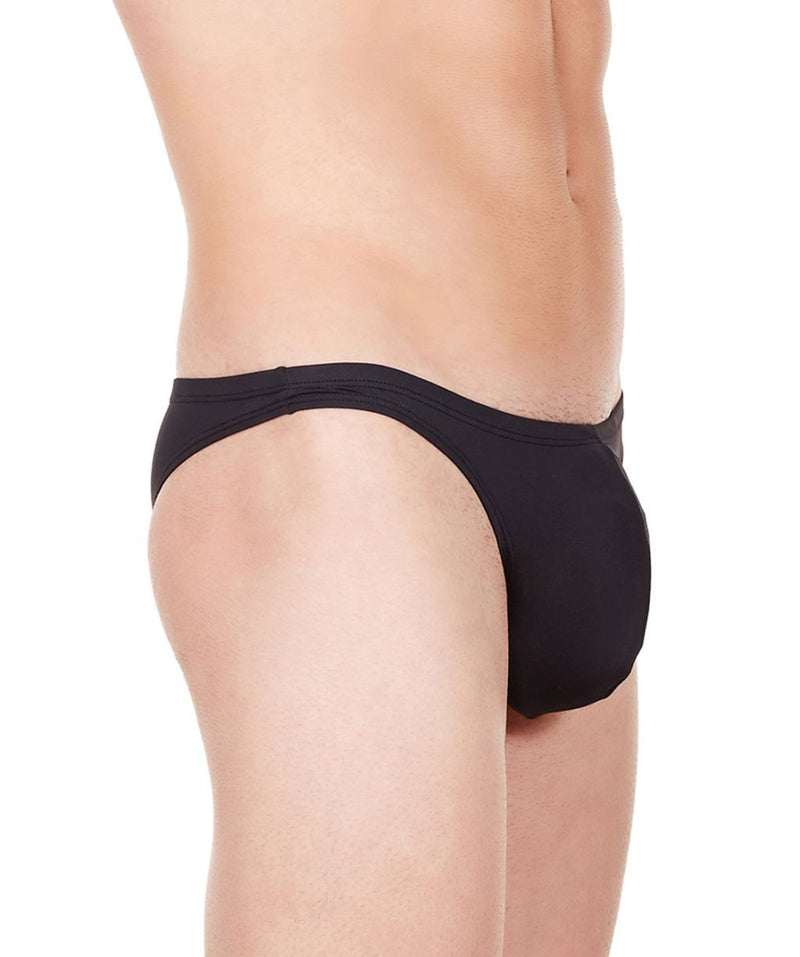 La Intimo Black Men Bikini Nylon Spandex Briefs