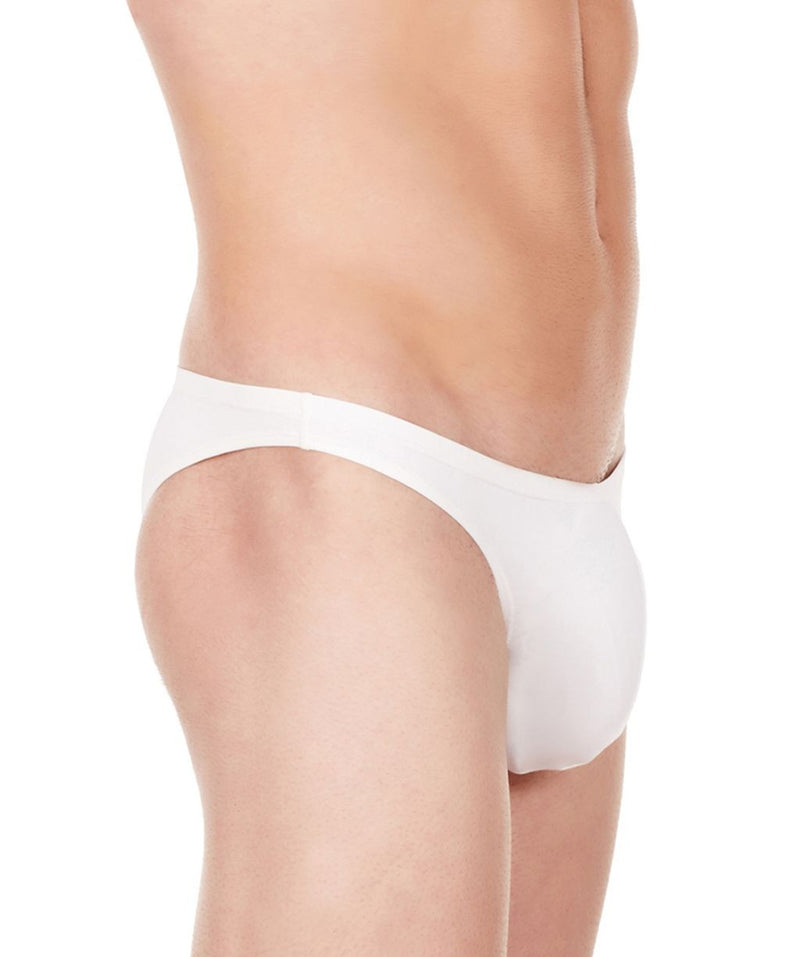 La Intimo White Men Bikini Nylon Spandex Briefs